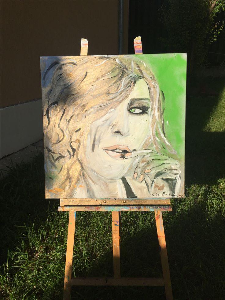 """Pictura """" Aha"""" , dimensiuni 70/70, acril, disponibil la vânzare.    """"Purtăm înlăuntrul nostru minunile pe care le căutăm în afara noastră."""" - Rumi   #ginamaicanartstyle🎨 #art #artist #contactme📲💌 #paintings #contemporanyart #thankfulheart ❤️"""
