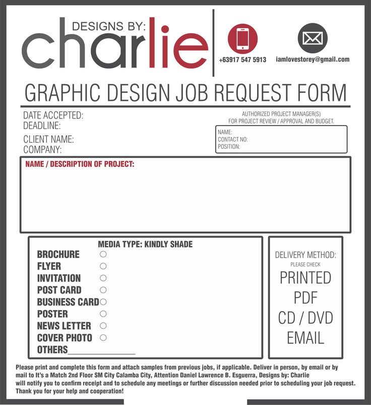 Graphic Design Order Form Template Image Gallery  Hcpr