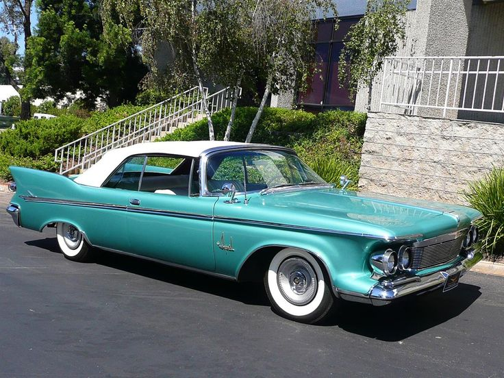 1961 Chrysler Imperial Convertible I have never seen one this color before and I love it!