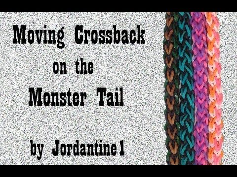 Monster Tail MOVING CROSSBACK Bracelet. Designed and loomed by jordantine1. Click photo for YouTube tutorial. 05/23/14.