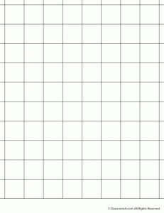 1 inch grid paper 231x300 Printable Graph Paper and Grid Paper.  Use for Bar type graphs for DATA unit.