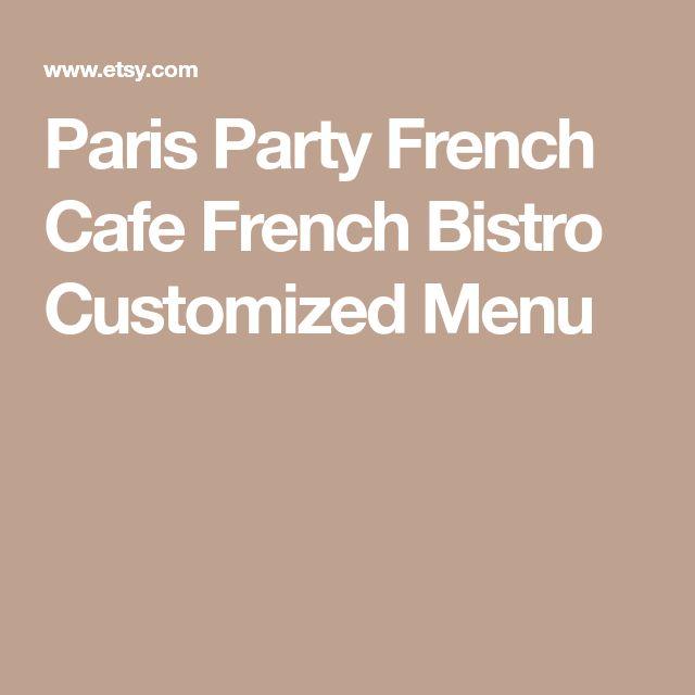 25+ beste ideeën over French cafe menu op Pinterest - Frans cafe - french menu