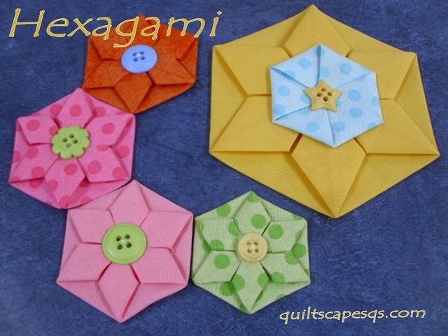 Riley Blake Designs - Esquinas de corte: Hexagami ~ hexágonos dimensiones!