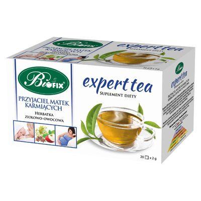 Expert tea PRZYJACIEL MATEK KARMIĄCYCH Suplement diety Herbatka ziołowo-owocowa ekspresowa