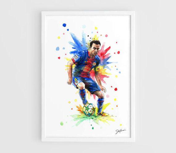 Xavi Barcelona FC   A3 Art Prints of the Original by NazarArt, $15.00