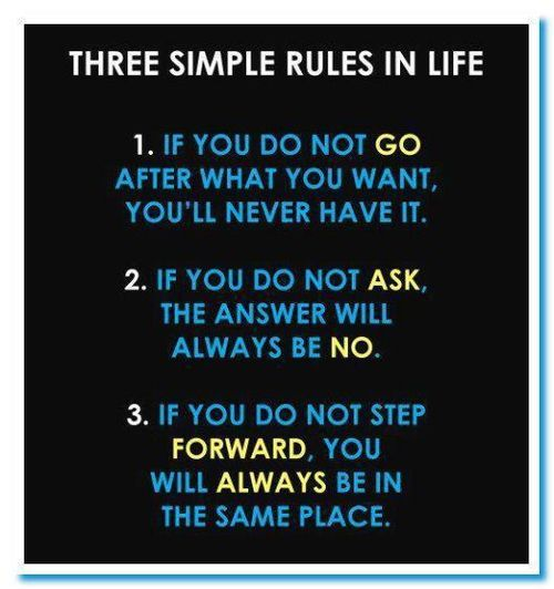 So true.Life Quotes, Life Rules, Life Lessons, Simple Rules, Motivation, Three Simple, Living, Inspiration Quotes, Moving Forward