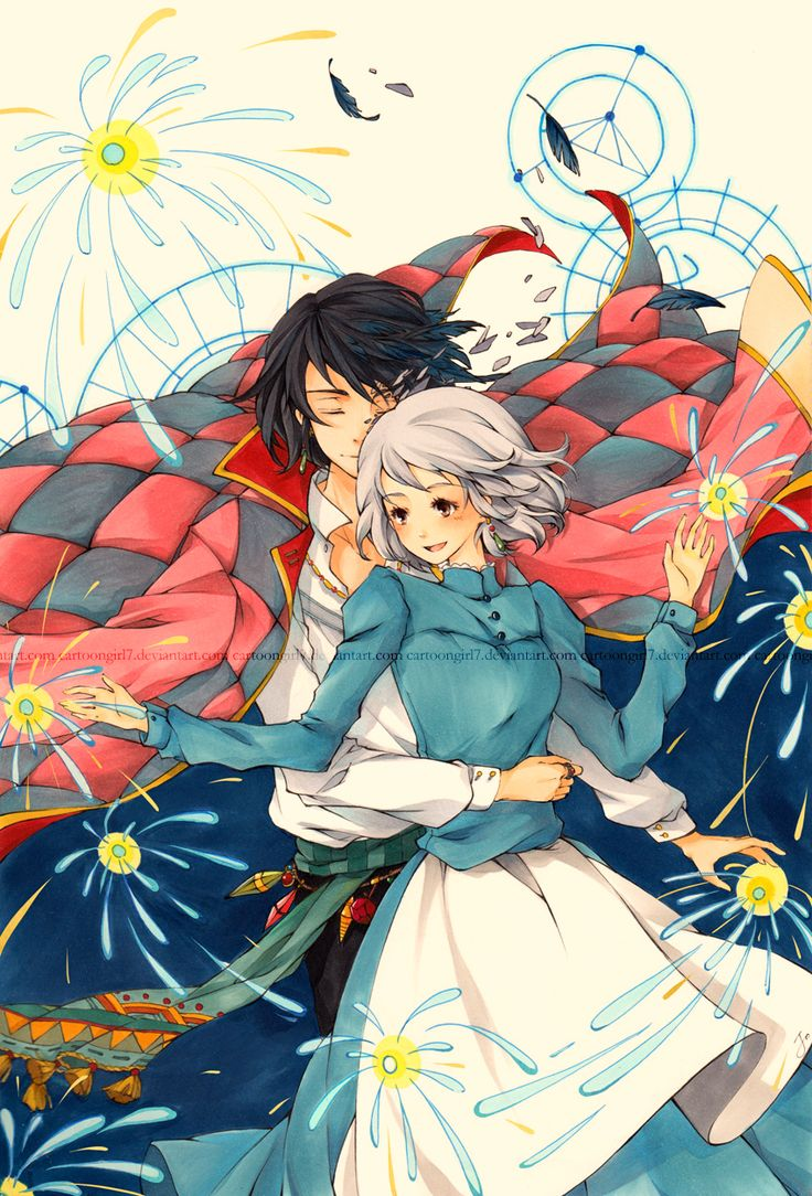 Howl's Moving Castle~  A beautiful drawing for an amazing movie