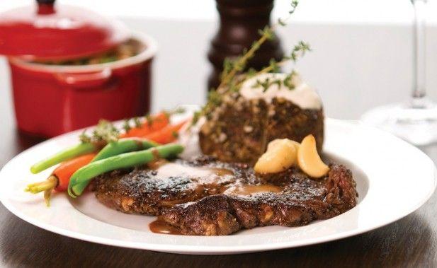 recettes de gibier du québec | Rib steak de bison au poivre noir