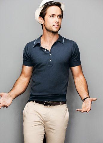 : Hats, Fashion Style, Men Style, Men Fashion, Justin Chatwin, Polo Shirts, Style Blog, Gene Kelly, Spring Style