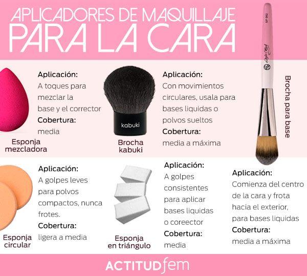 Aplicadores para base de maquillaje