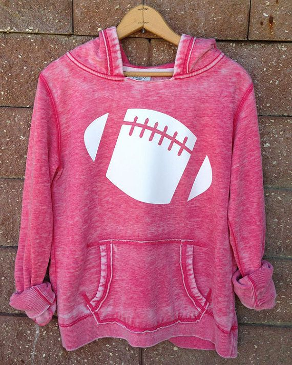 Football Girly Pullover Hoodie Sweatshirt Women's by WearMeGear, $35.00