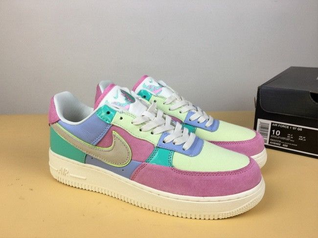 new arrival bf930 daa75 Nike Air Force 1 Low Easter Egg Ice Blue Sail Hyper Turquoise-Barely Volt  For Sale