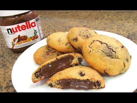 Galletas Chocolate Chip Cookies con Nutella - YouTube