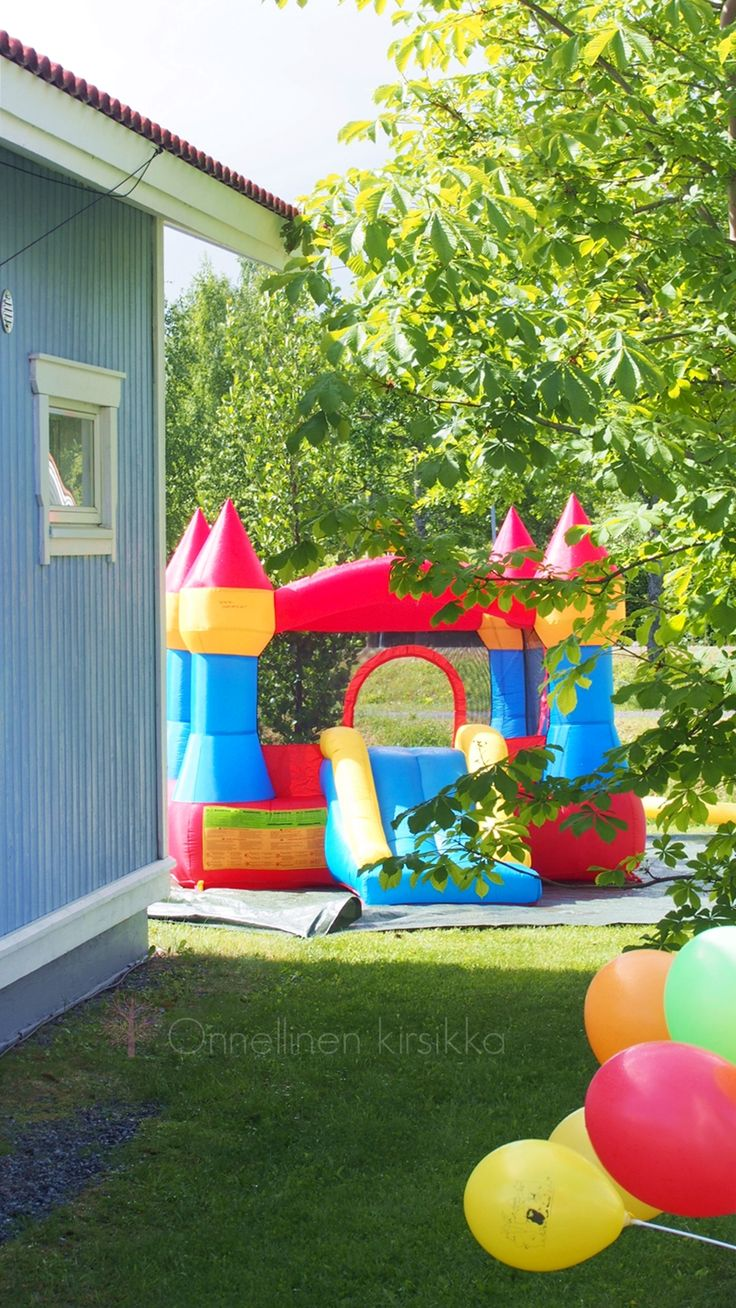 #moominparty with bouncy castles