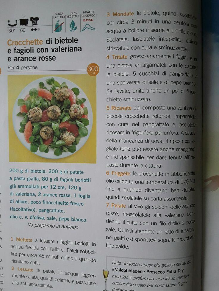 Crocchette di bietole e fagioli con valeriana
