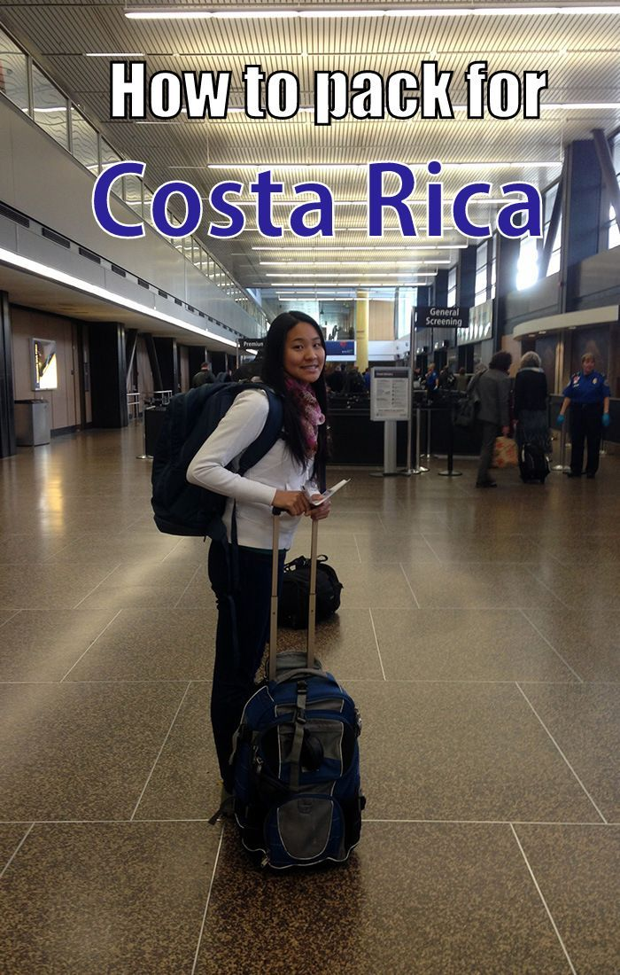 Packing tips for Costa Rica - what to bring for men and women, all micro climates and both dry and wet season. Click through to read our ultimate packing list http://mytanfeet.com/about-cr/packing-for-costa-rica-what-to-bring/