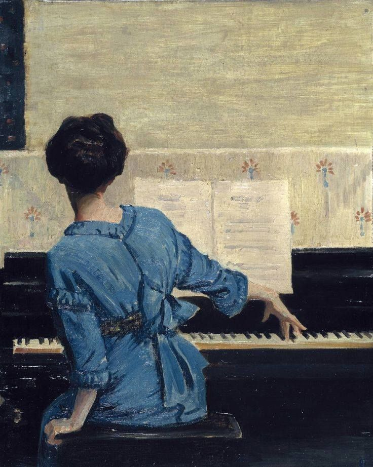 ♪ The Musical Arts ♪ music musician paintings - William Merritt Chase - The…