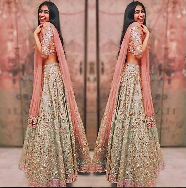 Kushi Kapoor ,Daughter Of Sri Devi Kapoor ,In A Beautiful Lehenga .Design By Manish Malhotra