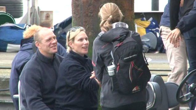 Royal couple Zara Phillips and Mike Tindall look loved up at Cowes Week