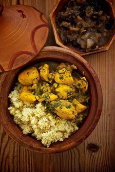 cuscus-de-pollo con cebolla caramelizada receta marroqui