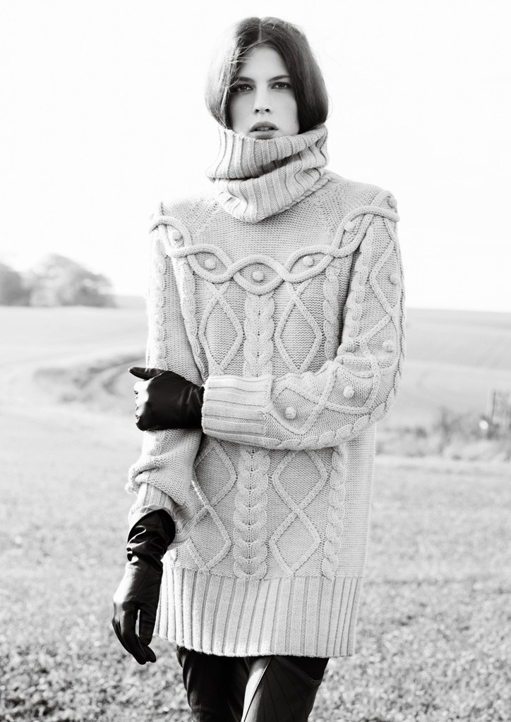 barbour by temperley  I love this sweater and legging look.  If I can find a few I want to wear a lot of these this winter with leggings.