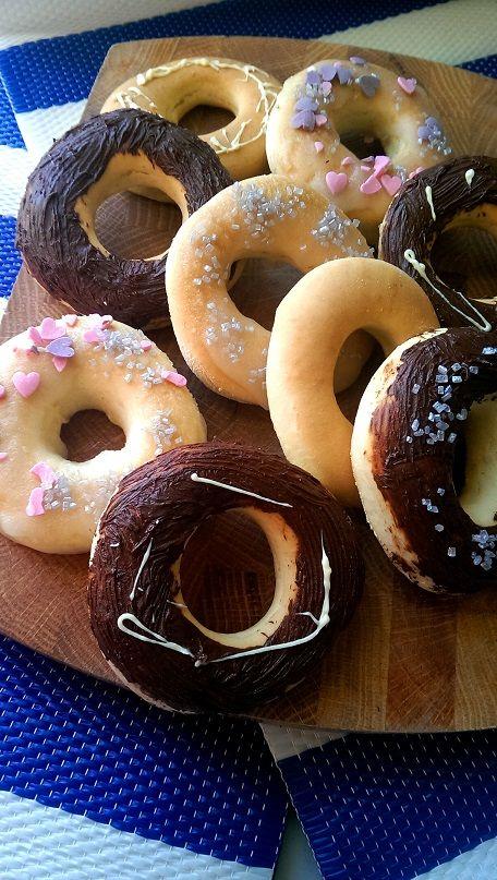 Fettarme Blech Donuts
