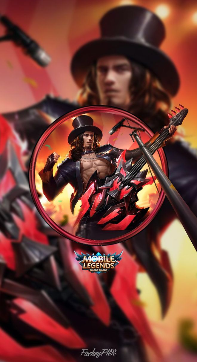 Wallpaper Phone Clint Rock And Roll By Fachrifhr Deviantart Com On Deviantart Mobile Legend Wallpaper Mobile Legends Clint