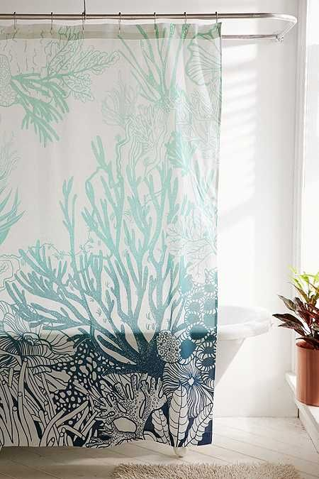 Shop Ombre Coral Reef Shower Curtain At Urban Outfitters Today We Carry All The Latest Styles Colours And Brands For You To Choose From Right Here