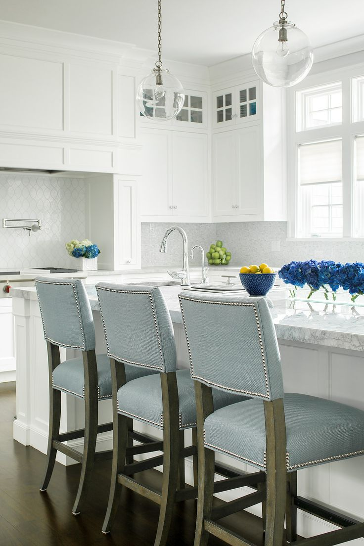 White On White Kitchen Baby Blue Pop Jem Cabinetry