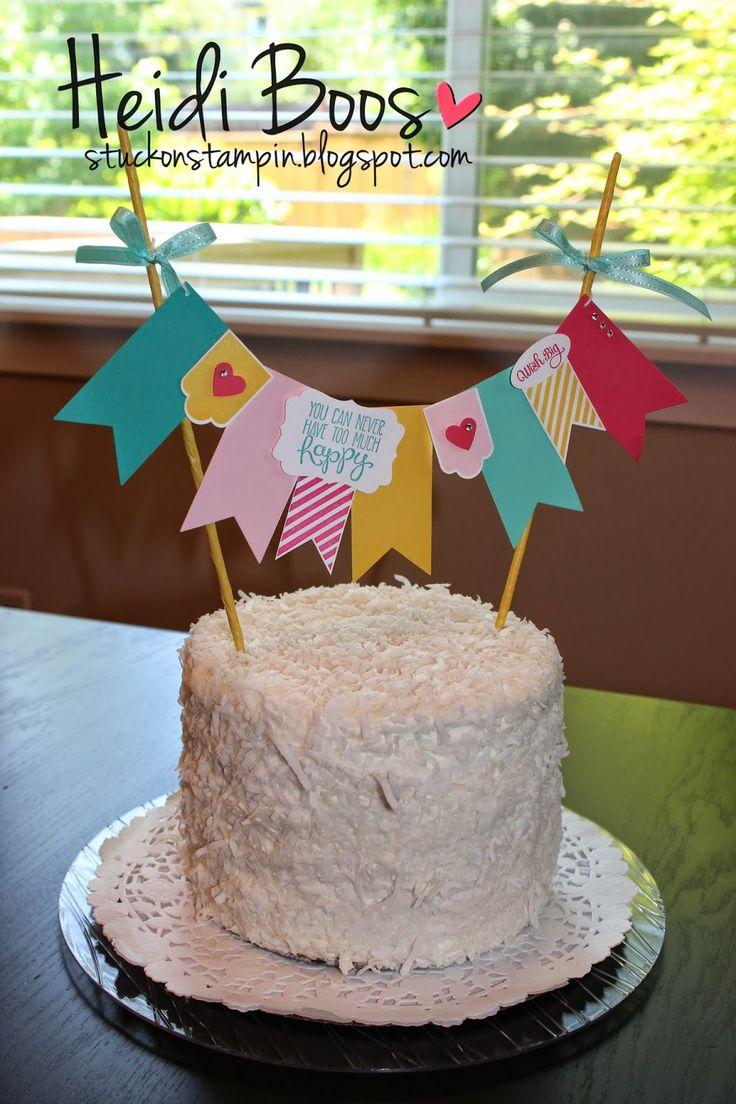 Stuck on Stampin': cake banner and summer-inspired teacher gift!