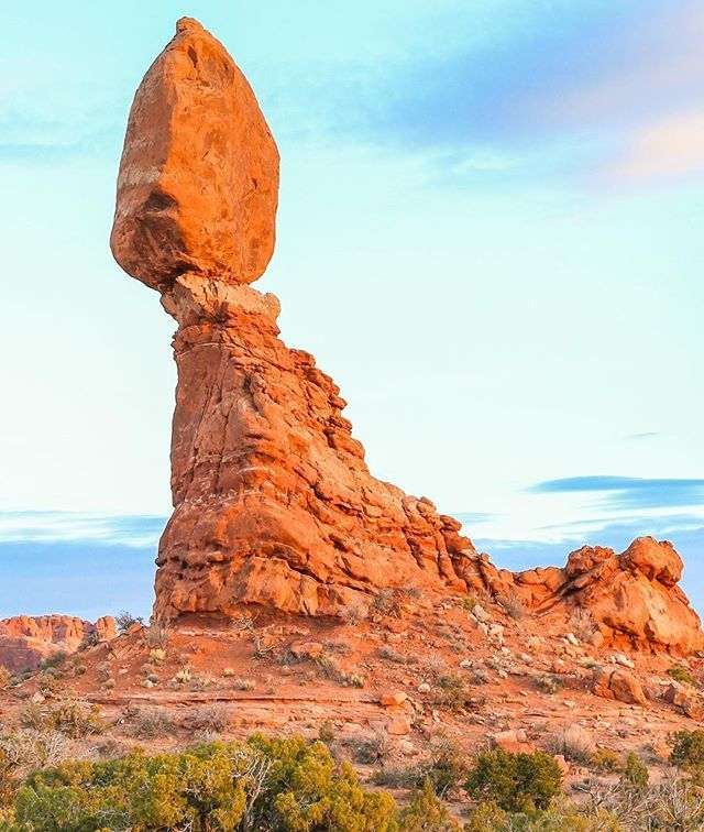 It May Look Like It S Teetering On The Edge But The Balanced Rock