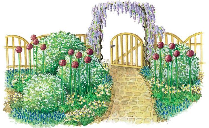 Diese Gestaltungsidee bereitet Ihren Besuchern gleich am Gartentor einen freundlichen Empfang – mit intensivem Duft und bunter Blütenpracht.