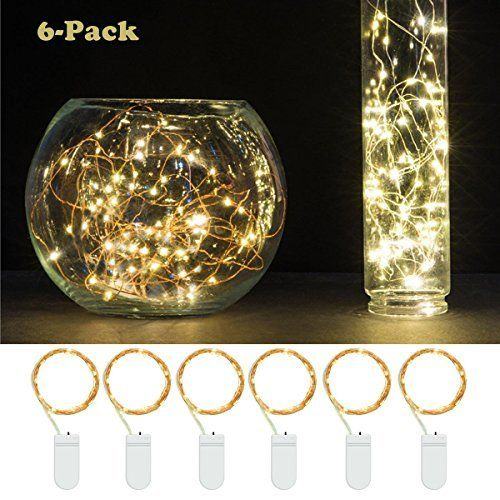 6 PCS Fairy String Lights Battery Operated 7.2ft(2.2M) 20 Leds LED Moon Lights YIHONG Starry String Lights Copper Wire For Wedding Centerpiece Dinner Party Decoration, Fairy Dress Costume Making, http://www.amazon.com/dp/B01GYP7M82/ref=cm_sw_r_pi_awdm_x_IuGZxbAP4AB3P