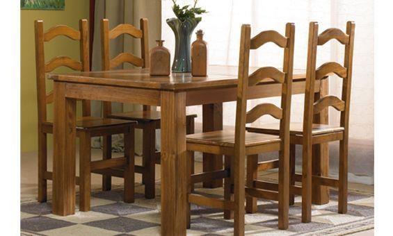 Comedor de estilo r stico realizado en madera natural y - Sillas comedor diseno ...