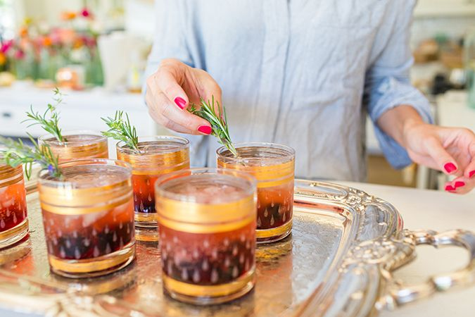 Lovely Libations: My Blackberry Champagne Garden Cocktail – Lauren Conrad