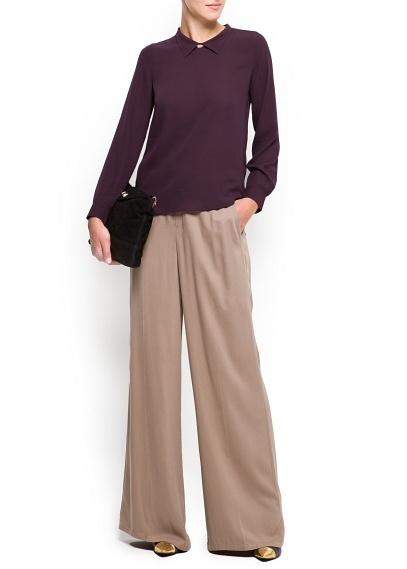 Palazzo trousers and collared top...my work vibe, for sure.