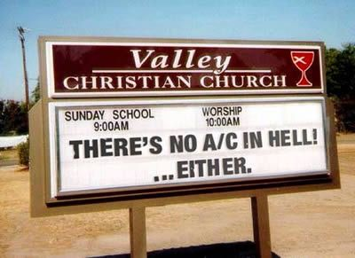 Another 15 Hilarious Church Signs (Funny Church Signs, Hilarious Church signs) - ODDEE