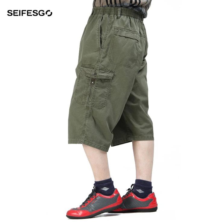 2017 Cargo Shorts Men Casual Summer Brand Clothing Cotton Male Fashion Army Workout Loose  Shorts Men Plus Size 4XL 5XL 6XL
