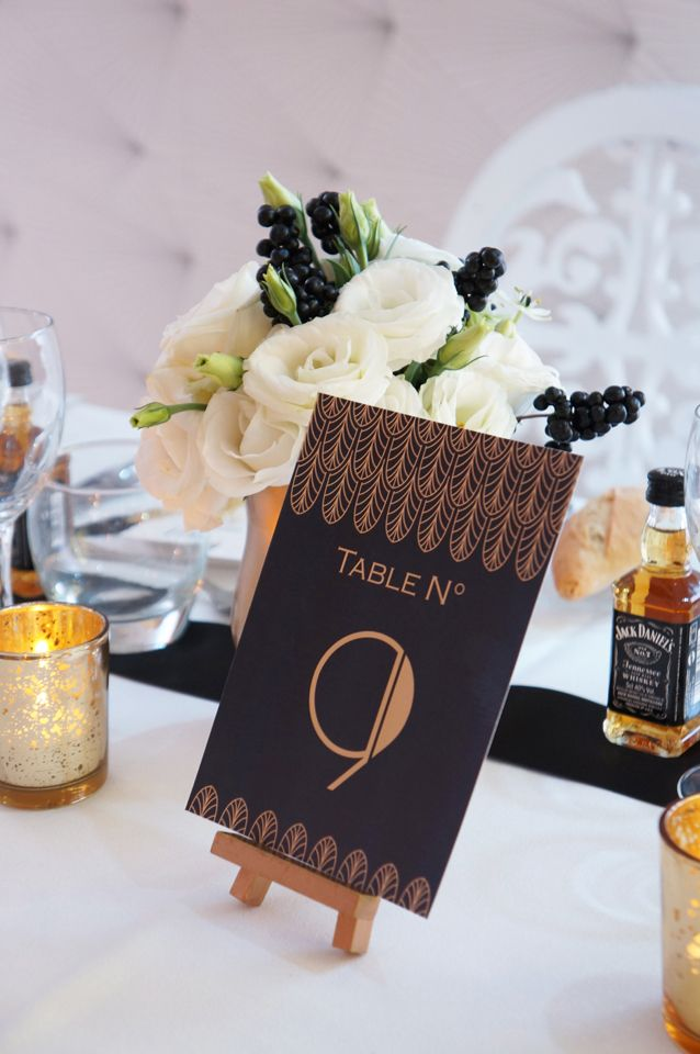 Mariage Cabaret Gatsby - Design : Dessine-moi une etoile - Fleurs : Aude Rose