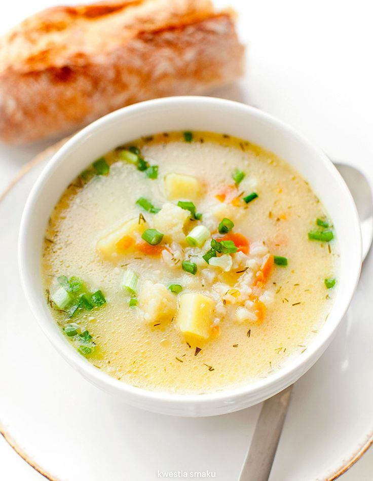 Zupa kalafiorowa z ryżem