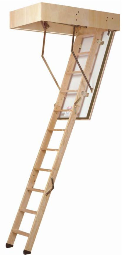 Dolle F30 Timber Folding Loft Ladder (30 Minute Fire Resistant) -- Suits an opening size of 1200 x 700mm. Suits a floor to ceiling height up to 2880mm. Unit supplied with a 3 section timber folding loft ladder, white faced 30 minute fire resistant trapdoor and hatch lining. The trapdoor is fitted with 50mm deep insulation. Operating pole & plastic ladder feet included with the unit. # from £295.00 (Inc VAT & UK Mainland Delivery)