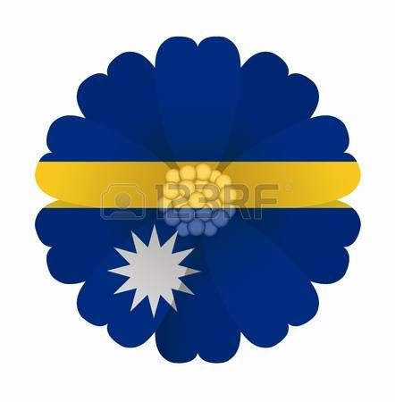 illustration of flower Flag Nauru photo