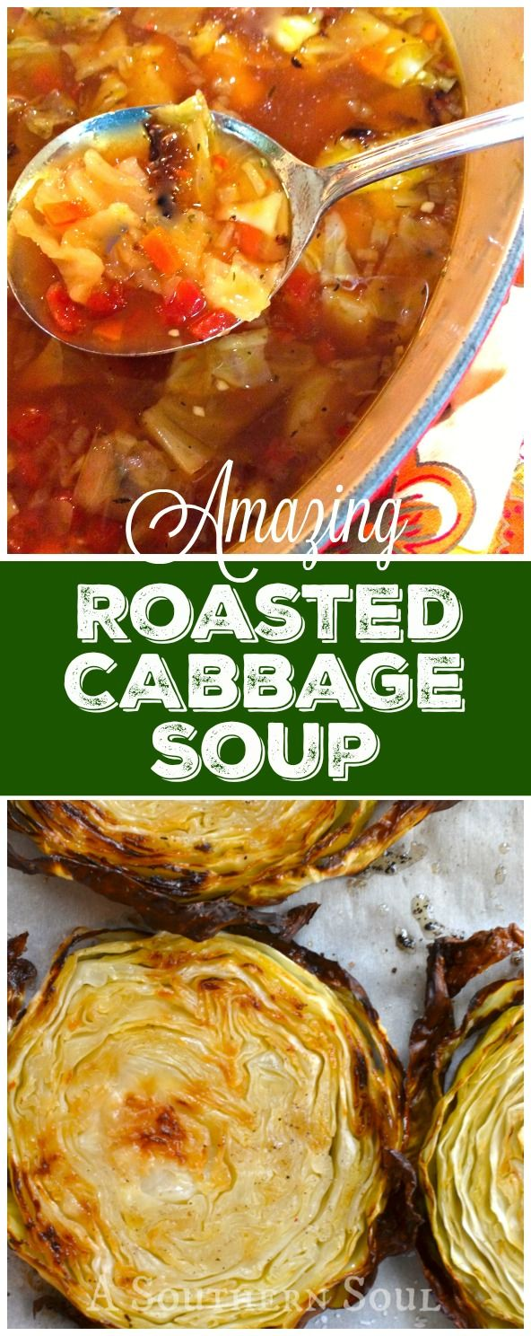 Intense, rich flavors are what's happening in my Amazing Roasted Cabbage Soup! It will turn any cabbage hater into a lover.