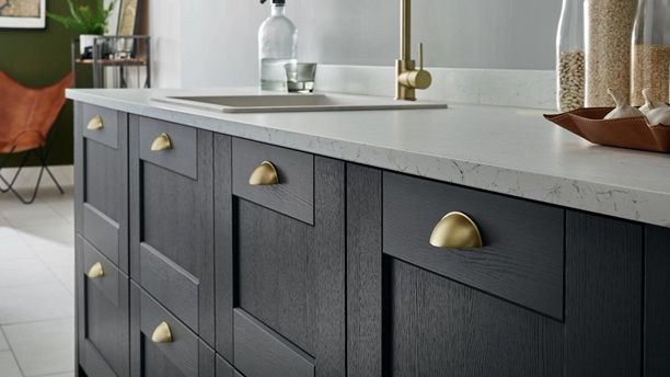 Fairford Charcoal Howdens Joinery Kitchen Door Handles Kitchen Cupboard Handles Cupboard Handles