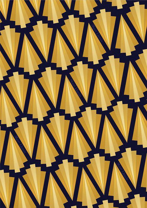 patrón de Art-deco
