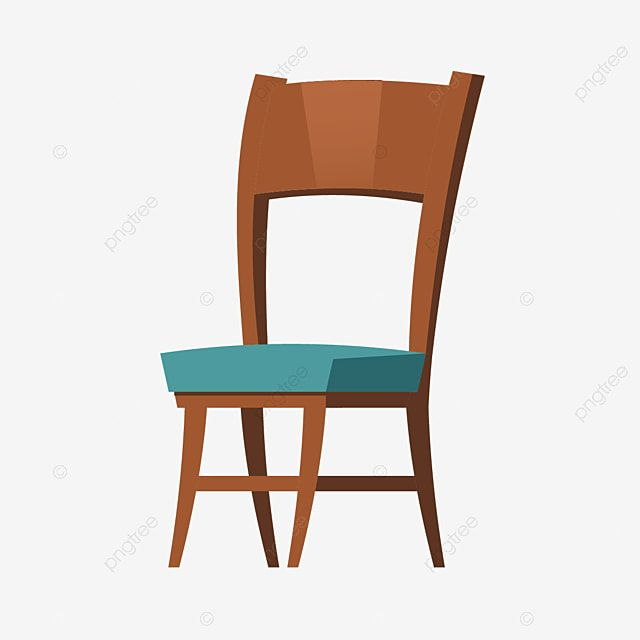 Wooden Chair Furniture Cartoon For Room Interior Furniture Vector Chair Png And Vector With Transparent Background For Free Download In 2020 Wooden Chair Furniture Chair Chair