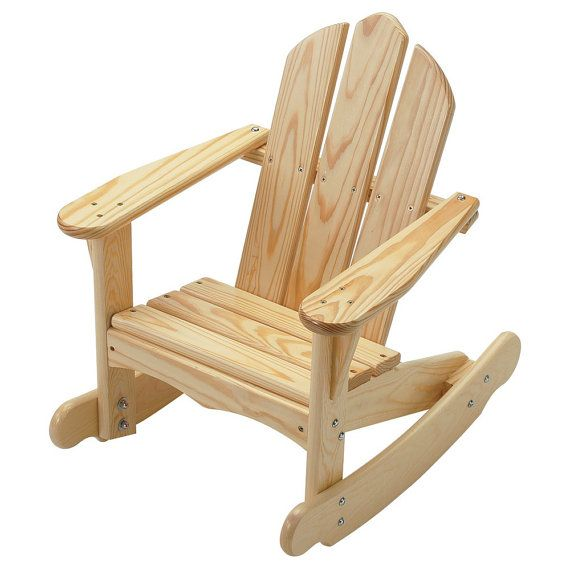 Kid's Adirondack Rocking Chair Unfinished or by EndeavourToys
