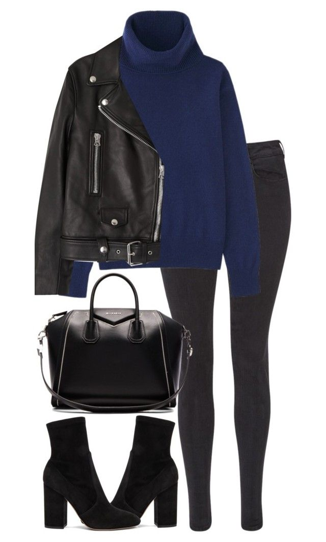 """Untitled #2930"" by elenaday ❤ liked on Polyvore featuring Maison Scotch, Uniqlo, Acne Studios, Valentino and Givenchy"