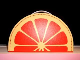 orange segment suitcase