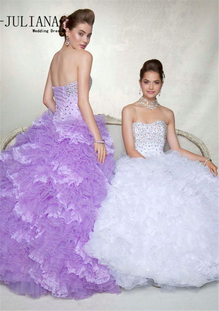Find More Quinceanera Dresses Information about Juliana Luxury 2016 Pink Purple White Quinceanera Dresses Ball Gown with Organza Beaded Prom Party Sweet 16 Dresses QA930,High Quality gown meaning,China gown ball Suppliers, Cheap gown dress from Juliana Wedding Dresses Store on Aliexpress.com